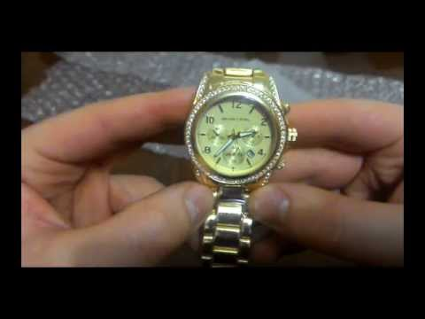 Женские часы Michael Kors золотые с Aliexpress