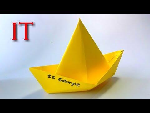 Como Hacer El Barco De Papel Pelicula It El Payaso Origami Paper Boat Youtube