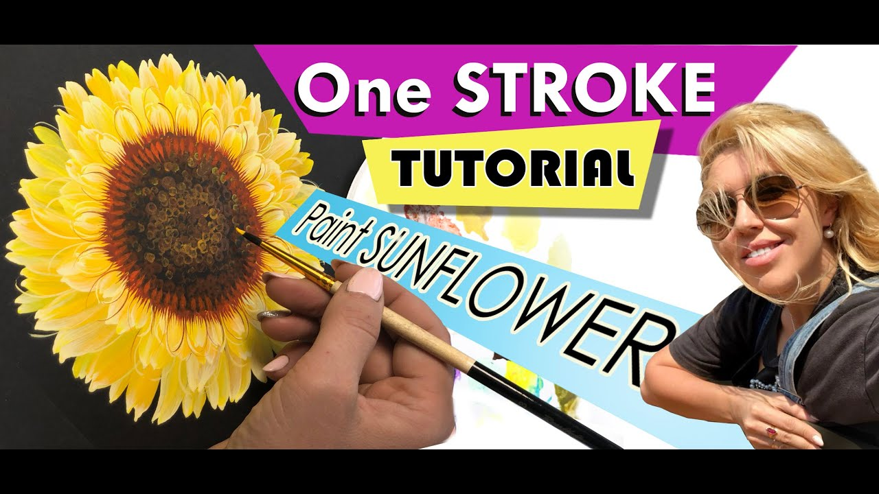 Sunflower Acrylic Painting Tutorial for Beginners   Step ...