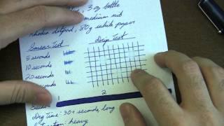 Noodlers Blue Ink Review- Ink Nouveau