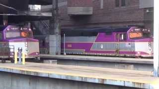 Railfanning South Station now with Horn