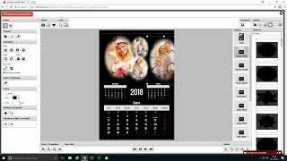 Calendario pared Negro 12 páginas A3 - A4