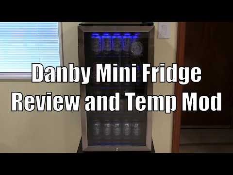 Review Danby Dbc120bls Mini Refrigerator And How To Make It Colder Youtube