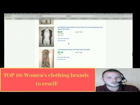 Top 10 Women's clothing brands to sell on eBay & make money