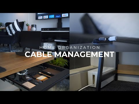 Guide To Organizing Cables In Your Home | Cable Management Tricks - Rental Friendly