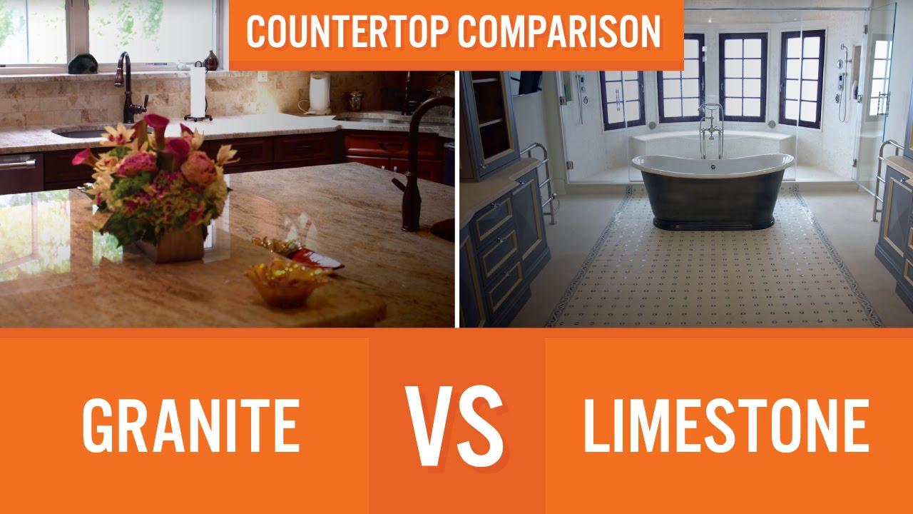 Granite vs Limestone | Countertop Comparison - YouTube