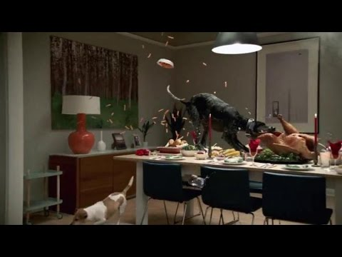 Tv spot vizio p series ultra hd tv dogs eat for What to eat on thanksgiving dinner