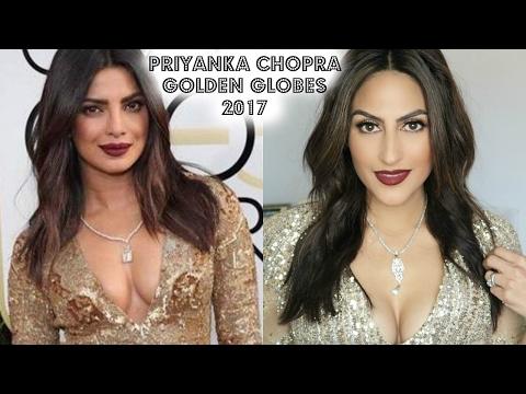 Priyanka Chopra Golden Globes 2017 Awards Makeup Tutorial // Celebrity Look