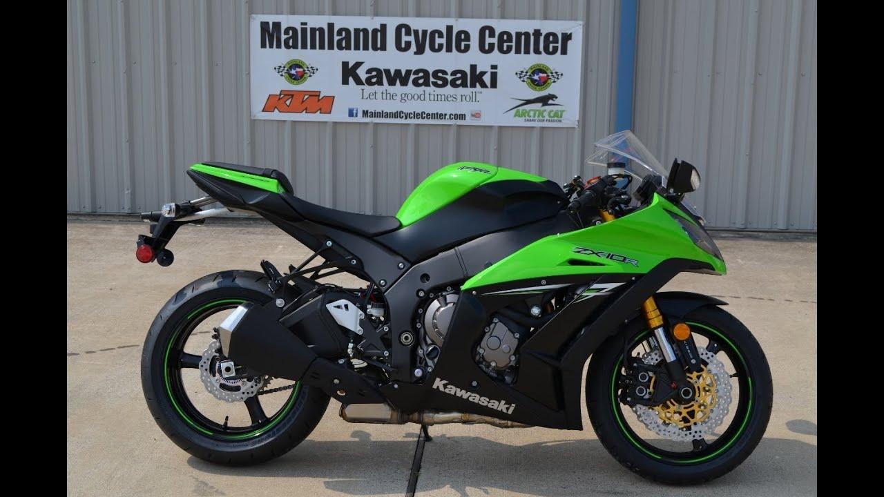 $15,299: 2014 Kawasaki ZX10R ABS Ninja Lime Green - YouTube