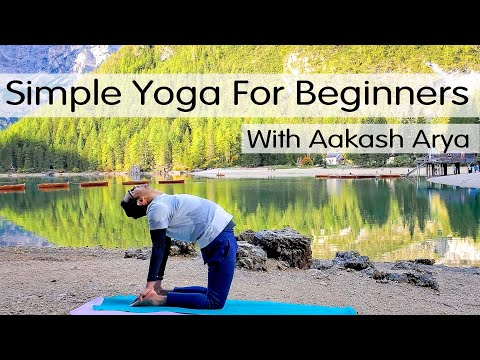 Simple Yoga for Beginners with Breathing