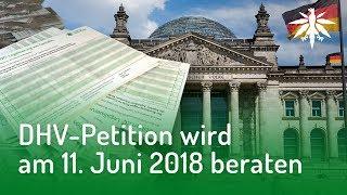 DHV-Petition wird am 11. Juni beraten   DHV-News #166