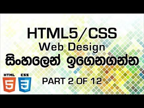 HTML CSS Web Design In Sinhala - Part 2