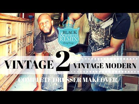 DIY vintage dresser makeover to vintage modern 2019