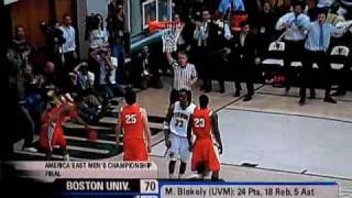 Marqus Blakely dunk versus Boston University