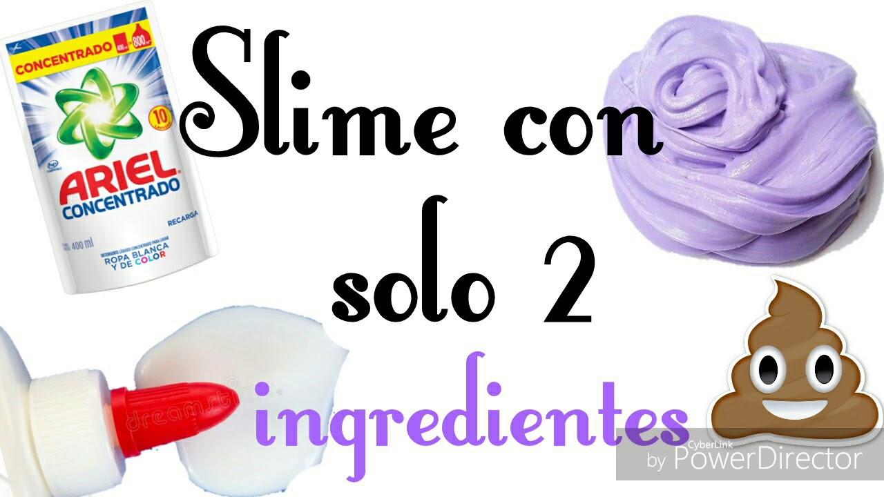 Slime Sin Borax Slime Con Ariel Y Pegamento Blanco Slime Con 2