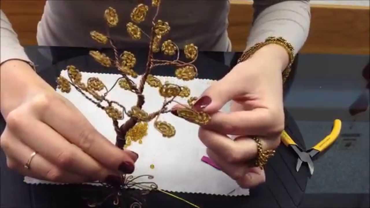 бисероплетение деревья схема березы