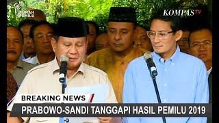 Prabowo-Sandi Tegaskan Menolak Hasil Pilpres 2019