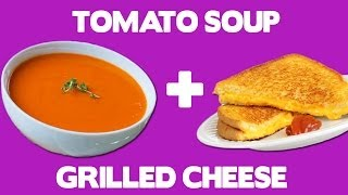 Tomato Soup Grilled Cheese Recipe - Food Mashups
