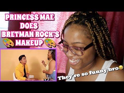 BRETMAN ROCK & PRINCESS: MY SISTER DOES MY MAKEUP #ETN4 *REACTION* thumbnail