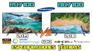 Samsung RU7100 Vs NU7100 Cuál es mejor Tv 4k HDR ? modelos 2019 2018