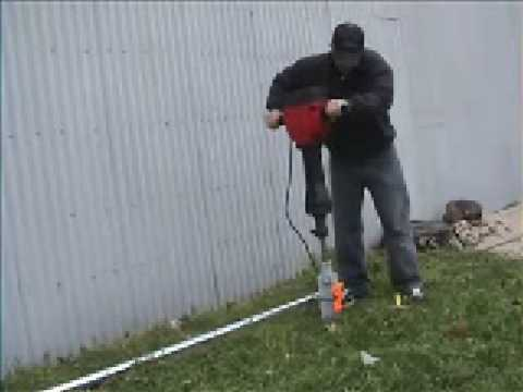How To Install Chain Link Fence With An Electric Jack