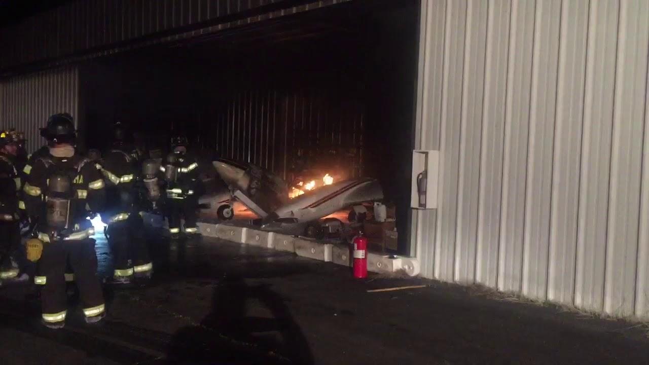 Firefighters battle airplane fire at Petaluma airport