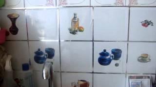 Fix-Price самоклеющаяся пленка на фартуке кухни