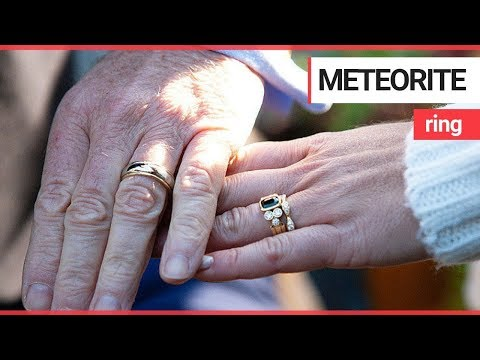 Couple create wedding rings made out of meteorite | SWNS TV