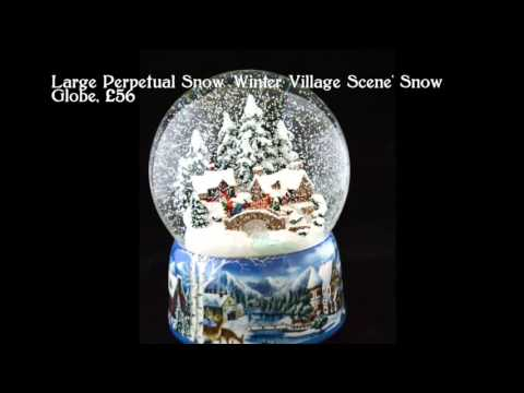 German Musical Snow Globes from Barretts - 'Winter Village Scene'