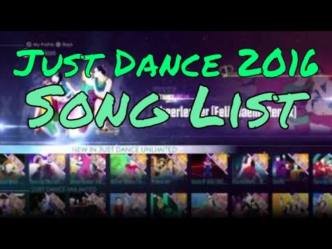 What songs are on just dance 2016 all full song list All songs hd video 2016
