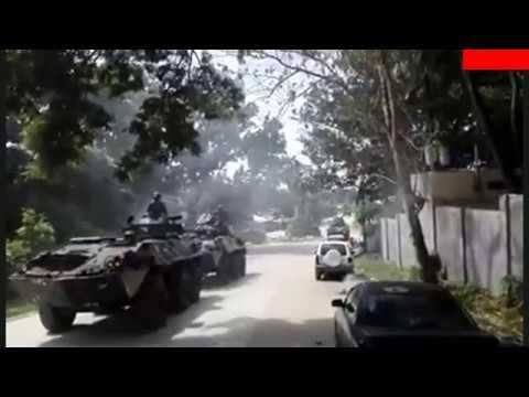 PHILIPPINE MARINES 9 LIGHT ARMORED VEHICLES CONVOY