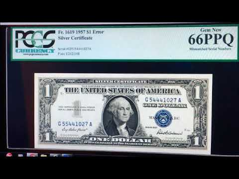 MISMATCH SILVER CERTIFICATE DOLLAR BILL WORTH MONEY! RARE DOLLAR BILLS  TO LOOK FOR!