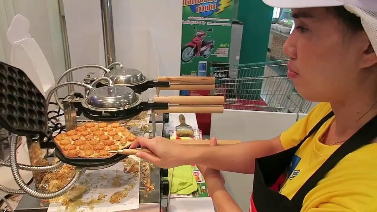 Thai Style Waffles Dessert - Bangkok Street Food