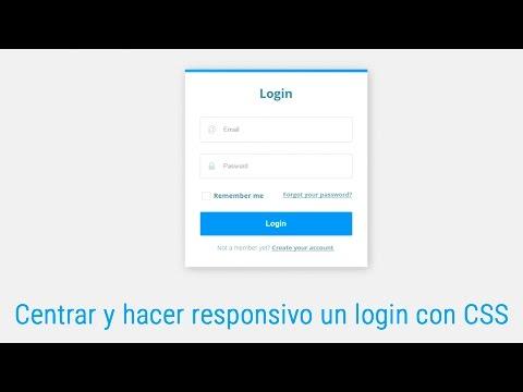 Como centrar un login y hacerlo responsivo utilizando CSS - YouTube