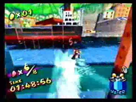 Super Mario Sunshine - Red Coins on the Water - 1:37.55