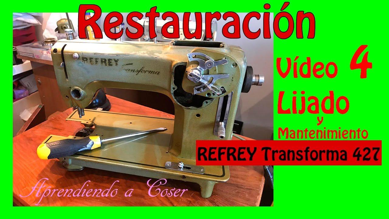 #4 Máquina de Coser antigua Refrey 427 / Lijado y