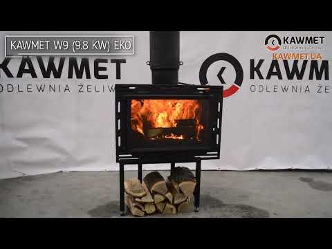 Каминная топка KAWMET W9 (9.8 kW) EKO. Відео 2