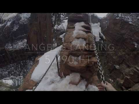 Angel's Landing Hike   **Don't watch if you're afraid of heights**