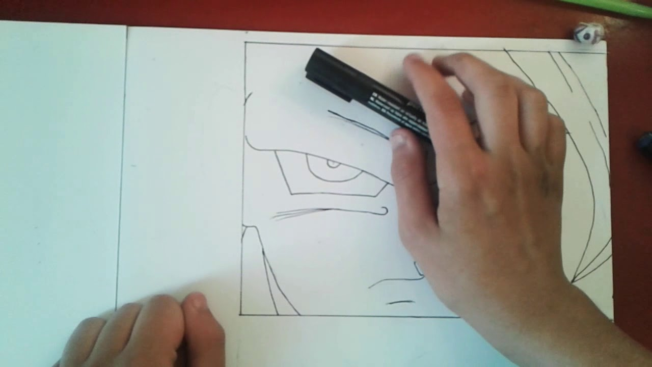 Dessin Goku Ssj3 En Noir Et Blanc Youtube