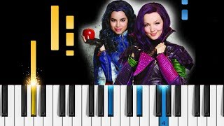 Descendants 2 - Chillin' Like a Villain - EASY Piano Tutorial - Disney's Descendants 2 OST