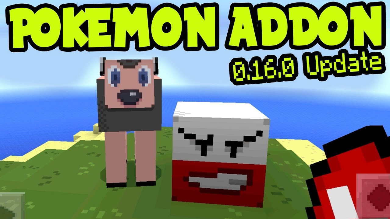 """Download MCPE 0.16.0 UPDATE """"POKEMON ADDON PACK and BEHAVIOR PACK Gameplay! - Minecraft PE (Pocket Edition)"""