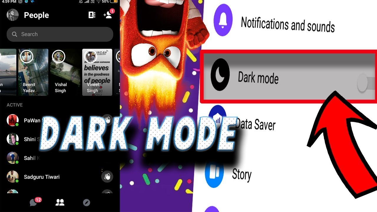 HOW TO ENABLE DARK MODE IN FACEBOOK MESSENGER ANDROID (NO APK DOWNLOAD) |  ROOT 2019