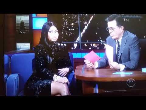 Nicki Minaj on The Late Show WITH Stephen Colbert Show