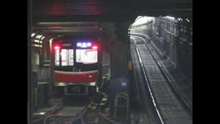 【折り返し列車と北急8000系や10系更新車ACCCチョッパ車など】大阪メトロ御堂筋線・中津駅にて