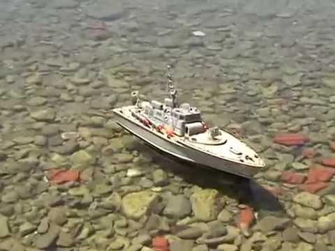 RC PT15 TORPEDO BOAT TRICHONIDA LAKE GREECE - YouTube