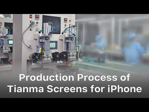 Production of Aftermarket China-made iPhone LCD Screen