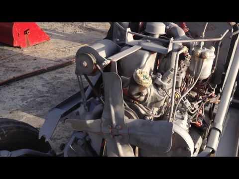 Sandblasting tractor chassis