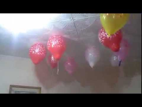 Как сделать Шары на потолке без гелия