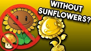 Is it Possible to Beat All Mini-games & Survival Without Sunflowers? (PvZ No Sunflower Challenge)
