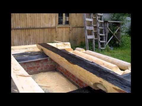 Строительство деревянного дома из оцилиндрованного бревна
